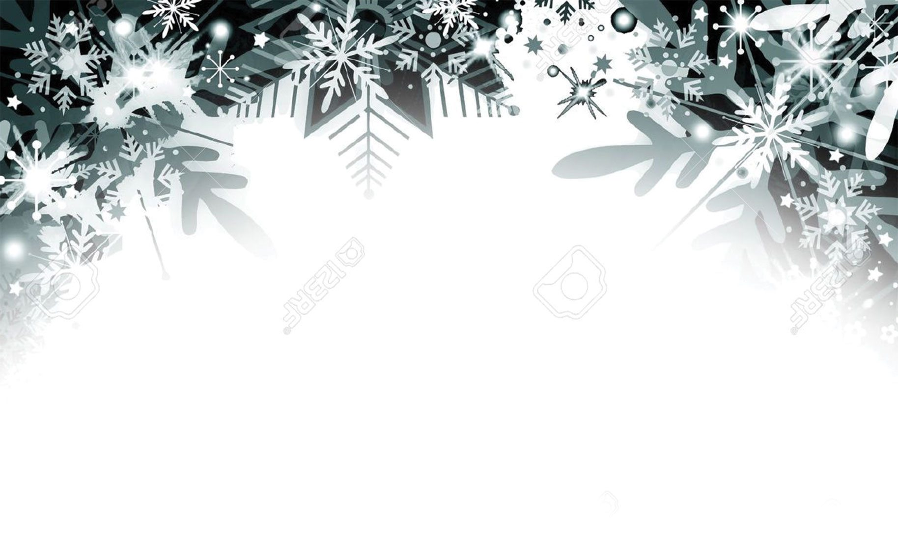 Christmas Border Black And White.11756350 Snowflakes Background Stock Photo Christmas Border