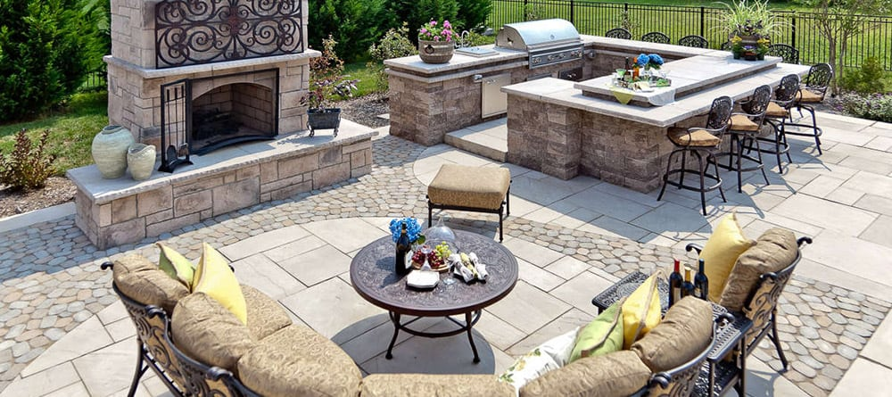 Techo-Bloc Outdoor Living Room