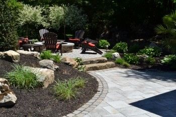 Natural cedar mulch nj ny northern nj bergen county for Landscaping rocks delivered