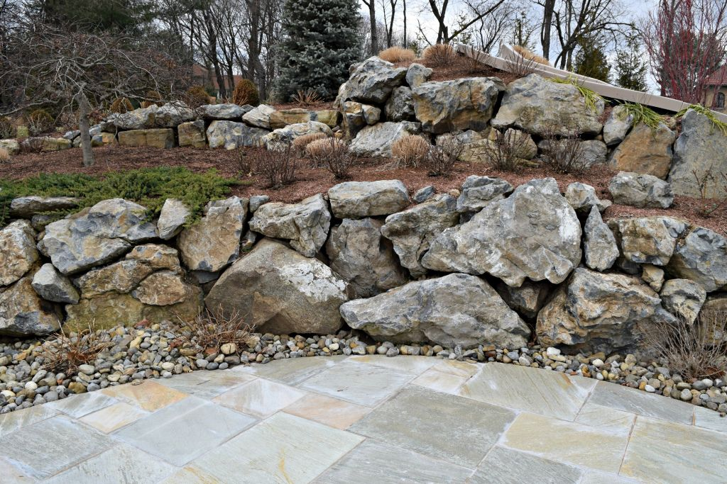 Landscape mason supplies in franklin lakes featured for Large garden rocks for sale