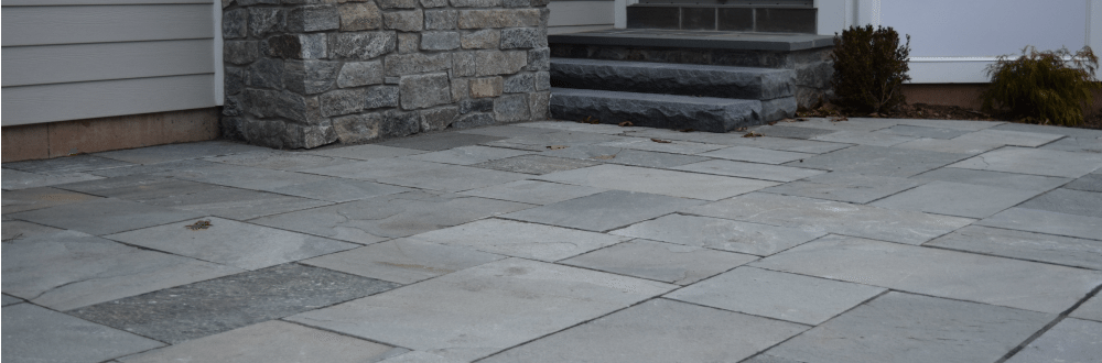 mystic gray dimensional flagstone patio in nj