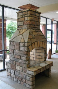 Stone Age Outdoor Fireplace Kit in NJ