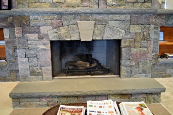 The cost of installing a stone veneer fireplace for Stone fireplace hearth prices